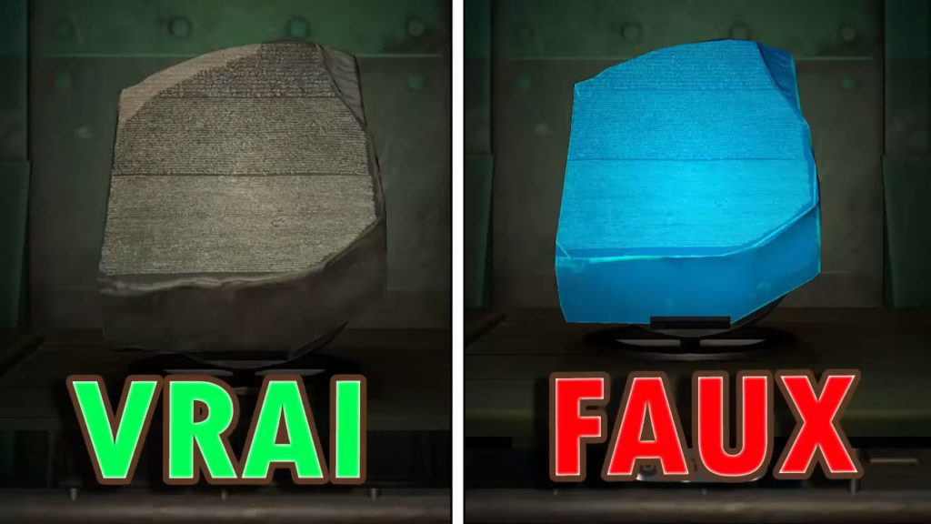 Une comparaison entre la vraie et la fausse Tablette édifiante