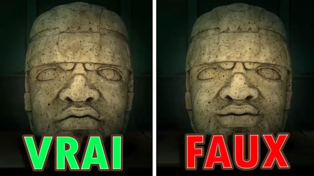Une comparaison entre la vraie et la fausse Sculpture Déterminée