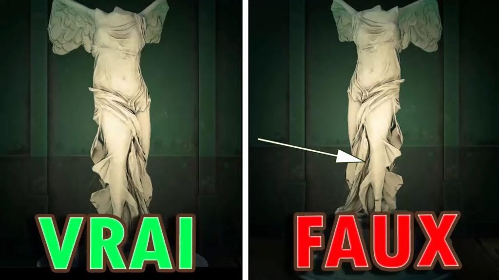 Une comparaison entre la vraie et la fausse Statue Héroïque