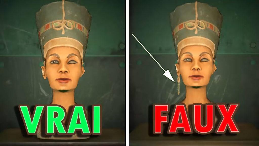 Une comparaison entre la vraie et la fausse Sculpture Mystérieuse