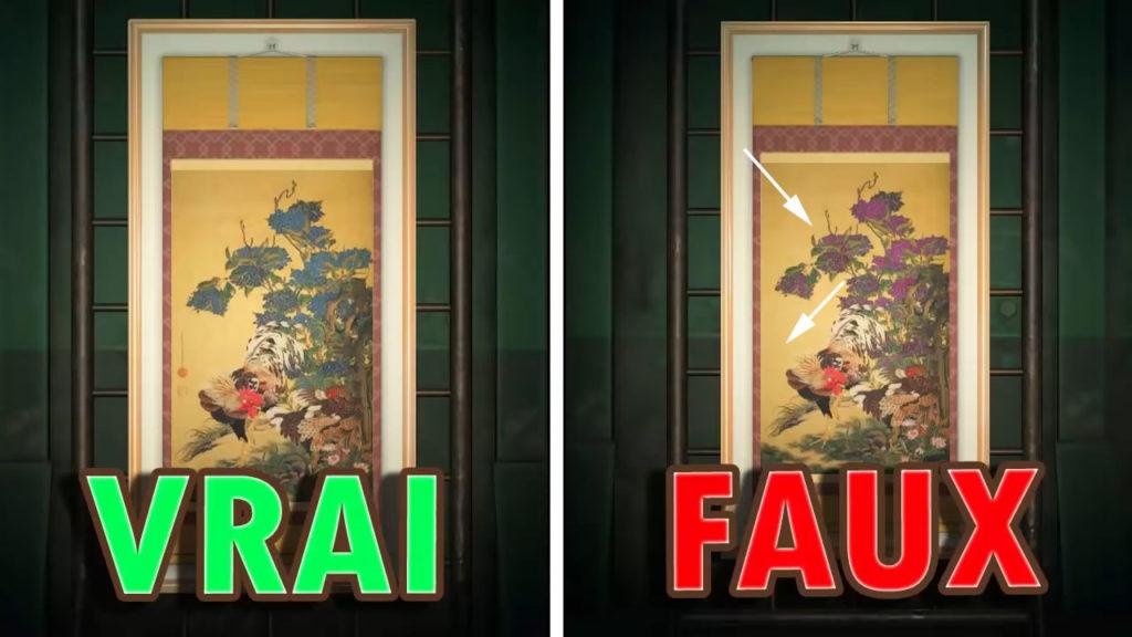 Une comparaison entre la vraie et la fausse Toile Détaillée