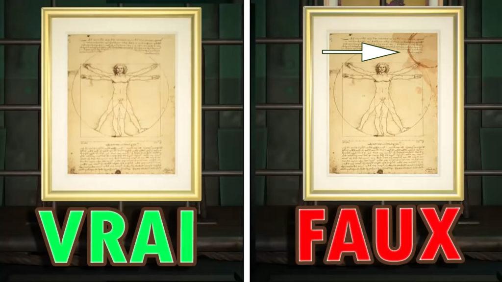 Une comparaison entre le vrai et le faux TOILE ACADÉMIQUE. La fausse version a une tache de café.