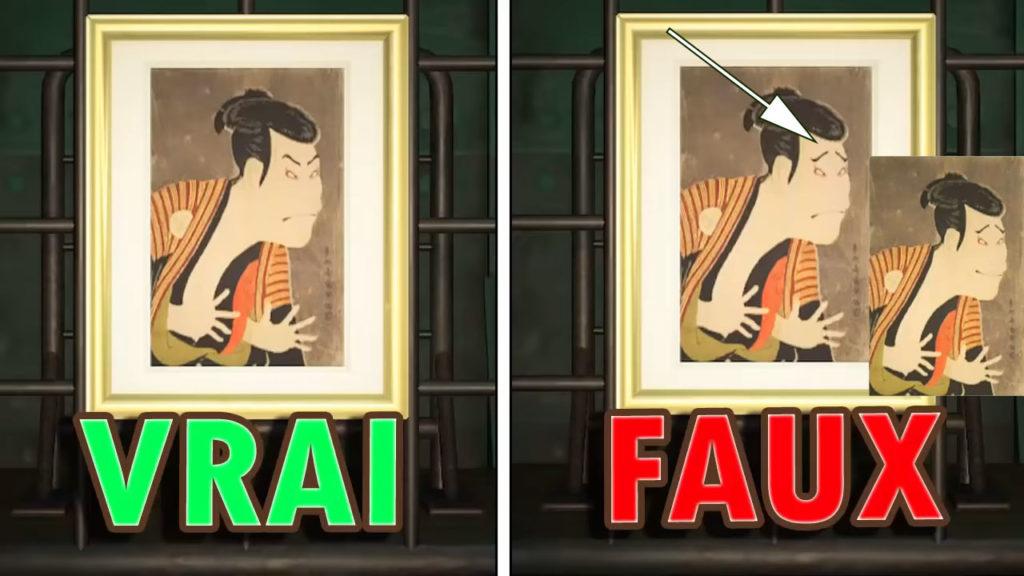 Une comparaison du vrai et du faux toile effrayante
